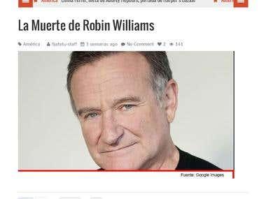 La muerte de Robin Williams