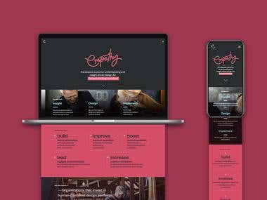 Empathy Design Website Design and Development.