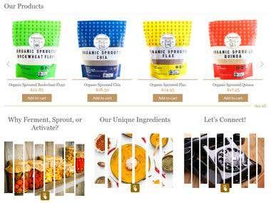 Organic Supplement Website
