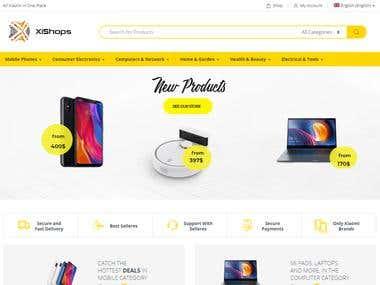Multilingual e-commerce Site