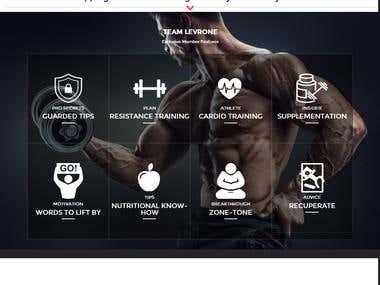 Membership Website for Famous Bodybuilder