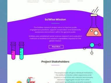 Medical startup website landing page design