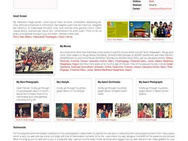 UI/Ux Design - Master Anand (South Movies Star)