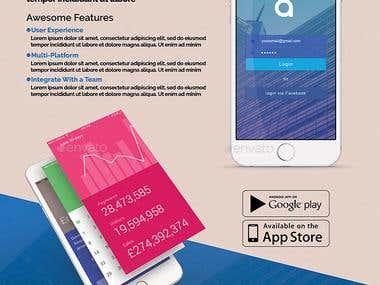 Brochure Design - (Mobile Application Promotion)