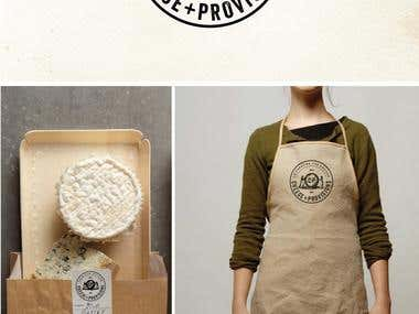 Logo design for Cheese+Provisions, a cheese store