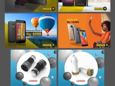 Social Media Marketing, Banner Designs for client