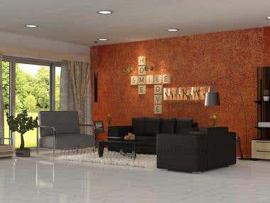 Iterior Designe ( Living Room )