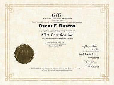 Spanish-English translator certification