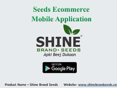 Seeds eCommerce Portal [ Shine Brand Seeds ]