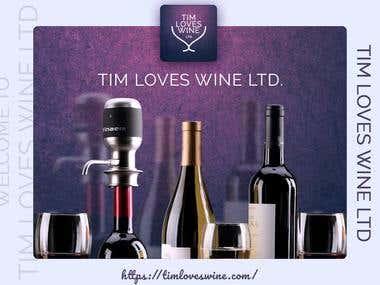 Tim loves wine Ecommerce website