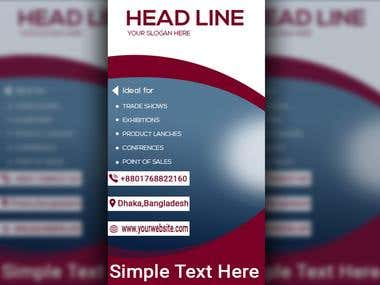 Web Banner Roll up