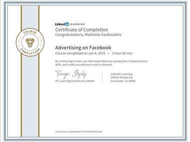Facebook Advertising Certification