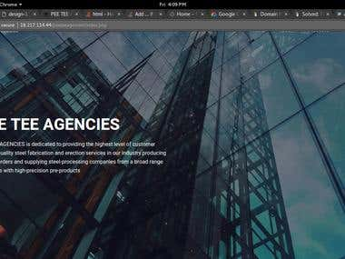 Dynamic Website for Steel Company Agencies
