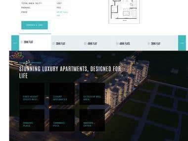 Luxury Apartments - Real estate website