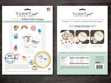Yummy Art Edible Sticker Packaging