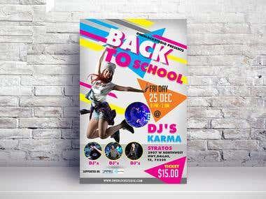 Dance flyer design