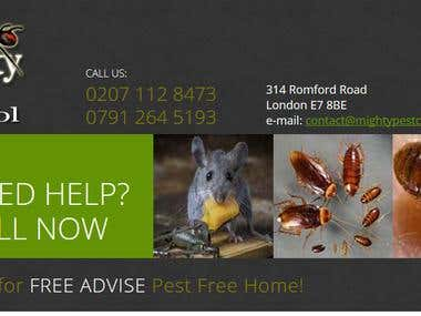Mighty Pest Control Website