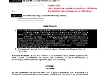 Partnership Agreement (Deed)