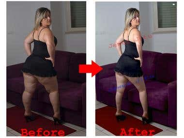 Retouch and body slim