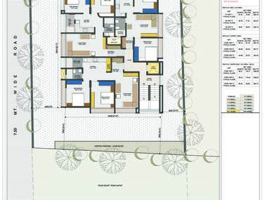 Conceptual architectural designs of residential Building
