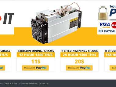 Rental hardware Website iwth online payments