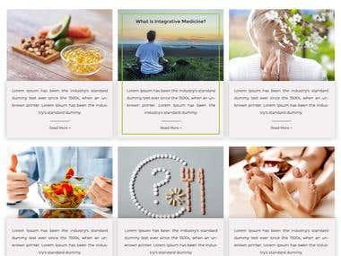 Wordpress Website - Salus Integrative (medical website)
