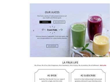 Ecommerce Website - Healthy Juices