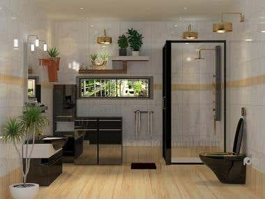 Interior designe (Toilet Project)