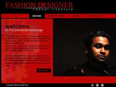 Fashion Designer's website