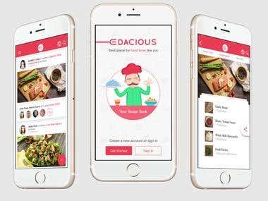 ionFullApp Social 9 Food Recipe Edacious
