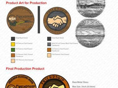 Brewery Coin from Brand Logo to Final Production