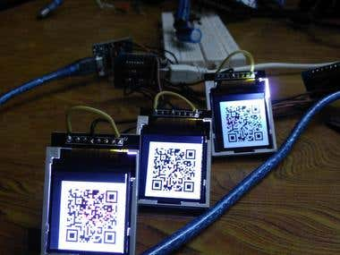 WiFi QR code generation through mini electronic display