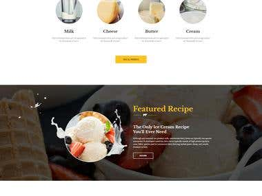 Build a Website for dairy farm