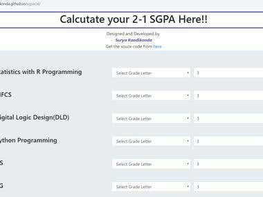 SGPA Calculator