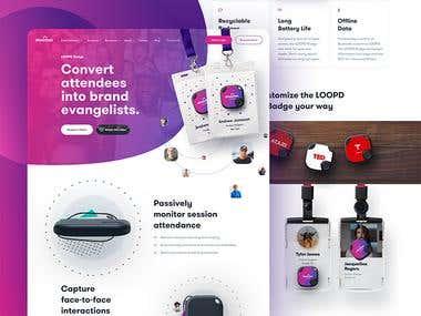 Product Website designing
