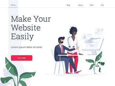 Full Website Template Customization