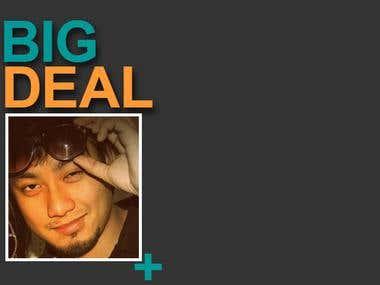 Big deal Artist LOGO thumbnail and channel art