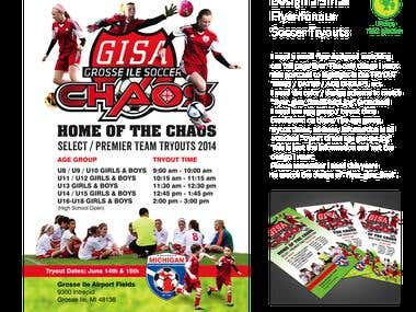 Flyer for Soccer Tryouts