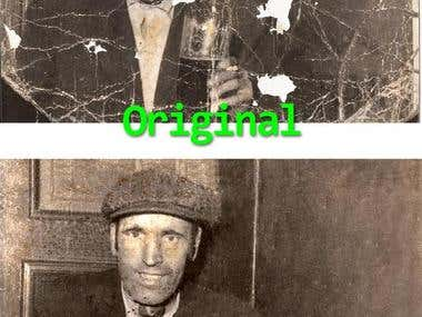 Photo restore and retouching