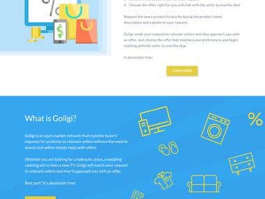 Gollgi - Web design