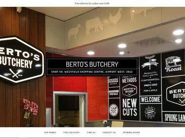 Bertos Butchery: Shop, Cafe, Restaurant style site