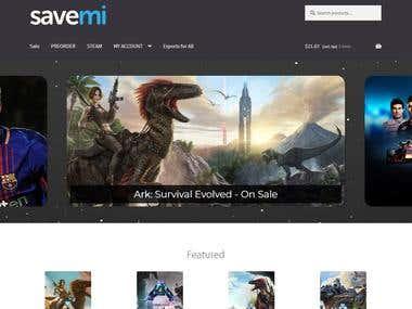 Savemi: Video Games E-Commerce Site