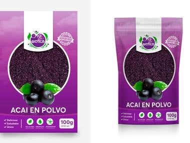 Diseño de packaging para Exótica