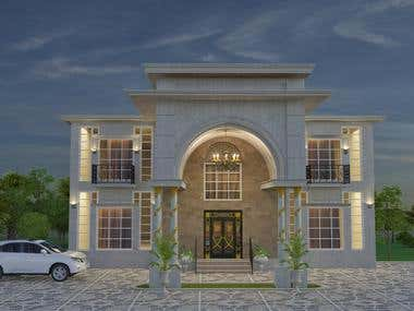 Modern House Exterior Design - Client From Qatar