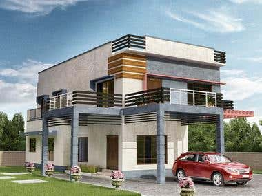 Modern House Exterior Design - Client From Srilanka
