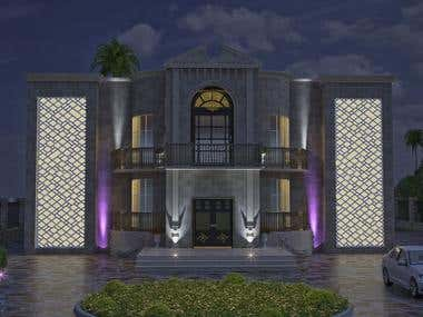 Modern House Exterior Design - Client From Oman