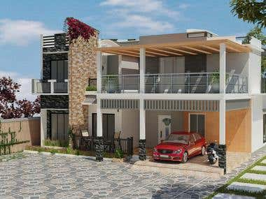 Modern House Exterior Design - Client From India