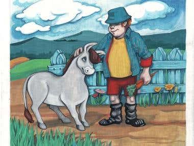 Opie, the Stubborn Donkey