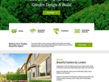 Wordpress theme design and development