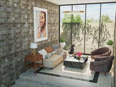 Modern House Interior Design - Client From India
